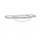 Умывальник с консолью и пристенной планкой 118х59 Eurodesign Luigi XVI LXI-10 белый 2 вида
