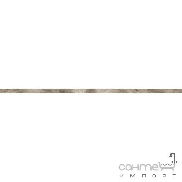 abk Плитка керамическая бордюр ABK Fossil LIST. FOGLIA ARGENTO FSR51210