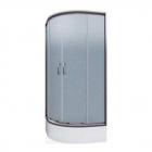 Полукруглая душевая кабина Cersanit Ineba 90x90x185 профиль хром, стекло прозрачное (графит)/матовое