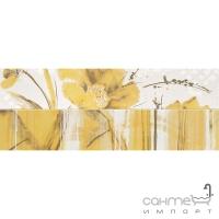 Плитка настенная бордюр ABK Secret LISTELLO ESTATE SOLE MIX 2 SCT060 (цветы)