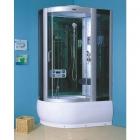 Гидромассажный бокс (гидробокс) YVM-55 R правосторонний, профиль сатин, серое стекло