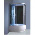 Гидромассажный бокс (гидробокс) YVM-156 R правосторонний, профиль сатин, серое стекло