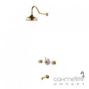 Смеситель для ванной с душем встроенные Kraus Apollo KEF-16054 G золото