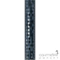 Плитка керамическая Интеркерама RUNE бордюр вертикальный синий БВ 31 051