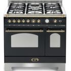 Газовая плита, 2 электрические духовки Lofra Dolcevita 90 Double Oven RNMD96MFTE/Ci BLACK/BRASS