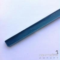 Стеклянный фриз Marsan 40x1,5 голубой глянцевый