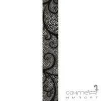 Фриз Береза керамика Капри жемчуг черный (35x5,4)