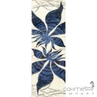 Фриз Береза керамика Магия фантазия синий (35х11,5)