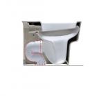 Колено для вертикального слива Simas Degrade CT03 белый