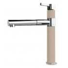 Кухонный смеситель с выдвижным душем SystemCeram Snella shower 1**76 Хром+Цвета