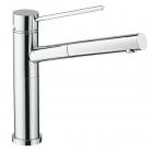 Кухонный смеситель с выдвижным душем SystemCeram Trend shower 10565 Матовый Хром