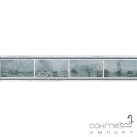 Плитка настенная бордюр Kerama Marazzi Ньюпорт Корабли зеленый STGB20915016