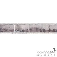 Плитка настенная бордюр Kerama Marazzi Ньюпорт Корабли фиолетовый STGC20915010