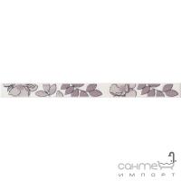 Плитка настенная бордюр Kerama Marazzi Ньюпорт Цветы фиолетовый STGC23515010