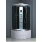 Гидромассажный бокс EKO Verona 90x90x220 TM-983 профиль сатин, стекло grey