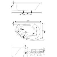 Акриловая асимметричная ванна Kolo Promise 150 левая