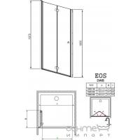 Душевые двери Radaway EOS DWB 37813-01-01NR правые (хром/прозрачное)