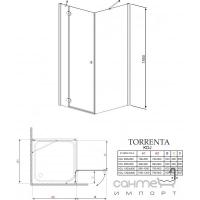 Душевая кабина Radaway Torrenta KDJ 90x90 правая