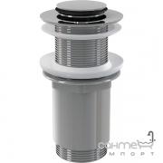 Водослив для умывальника без перелива AlcaPlast A394 (донный клапан) click/clack