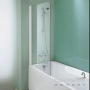 Односекционная шторка на ванну прямоуг. Kolpa-San Sole TP 75