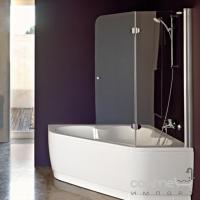 Двухсекционная шторка на ванну Kolpa-San Sole TP 110 PIANO R