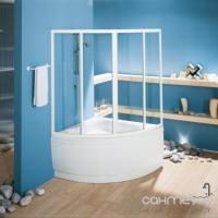 Шторка на ванну угловую 140х140 с раздвиж. дверц. Kolpa-San Luna TK 140