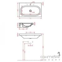 Раковина подвесная или на столешницу Artceram Blend BLL007 01; 00 (белый)