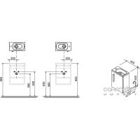 Тумба под умывальник Ravak Chrome SD 400 (корпус белый) X000000538