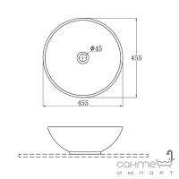 Раковина круглая EAGO BA351