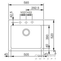 Кухонная мойка Franke Maris MRG 610-58 фрагранит