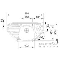 Кухонная мойка Franke Calypso COG 651-E фрагранит