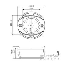 Гидромассажная ванна WGT Coliseum комплектация Easy+Hydro&Aero