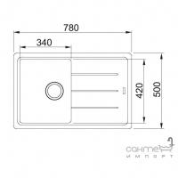 Кухонная мойка Franke Basis BFG 611-78 оборотная фрагранит