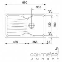 Кухонная мойка Franke Calypso COG 611 фрагранит