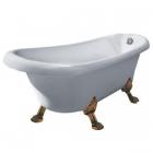 Ванна на золотых львиных лапах Dusrux LQ1880 (без смесителя)