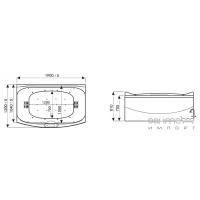 Гидромассажная ванна WGT Together комплектация Easy+Hydro&Aero