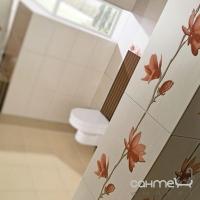 Плитка керамическая фриз Pilch Kaleydos Magnolia krem 30x8.5