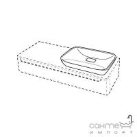 Раковина без перелива, без отверстия под смеситель Keramag myDay 245460