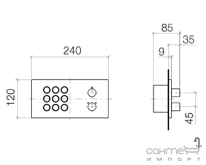 rainsky e dornbracht performing water 42700979 06. Black Bedroom Furniture Sets. Home Design Ideas