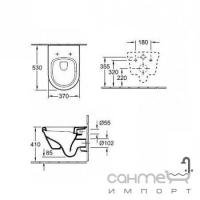 Унитаз Villeroy&Boch Omnia Architectura 5684H101 с крышкой + инсталляция TECE