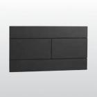 Панель пластиковая с кнопкой двойного слива Kerasan 752903 черная матовая