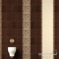 Плитка керамическая Интеркерама VENGE бордюр коричневый вертикальный БВ 01 011