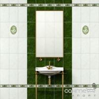 Плитка керамическая Интеркерама PIETRA бордюр широкий зеленый БШ 20 011