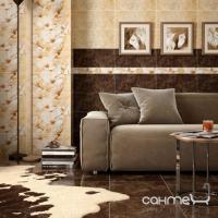 Плитка керамическая Интеркерама EMPERADOR бордюр вертикальный коричневый БВ 66 031