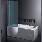 Гидромассажная ванна со шторкой EAGO AM127JDCW1Z (L)