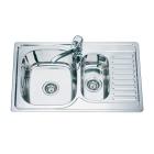 Мойка кухонная врезная 1+1/2 Mixxen MX7850DK-L (левая) декор