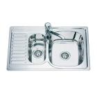Мойка кухонная врезная 1+1/2 Mixxen MX7850DK-R (правая) декор