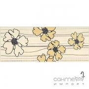 Плитка Ceramika-Konskie Marco cream inserto 20x50 (кафель с цветами)
