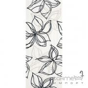 Плитка Ceramika Color Crypton black decor 25x60 (цветы)