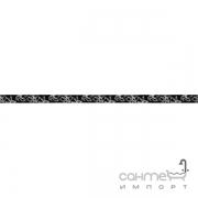 Бордюр Ceramika Color Crypton black listwa szklana 2.5x60